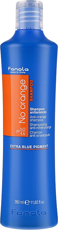 Shampoo per capelli colorati con tonalità scure - Fanola No Orange Extra Blue Pigment Shampoo