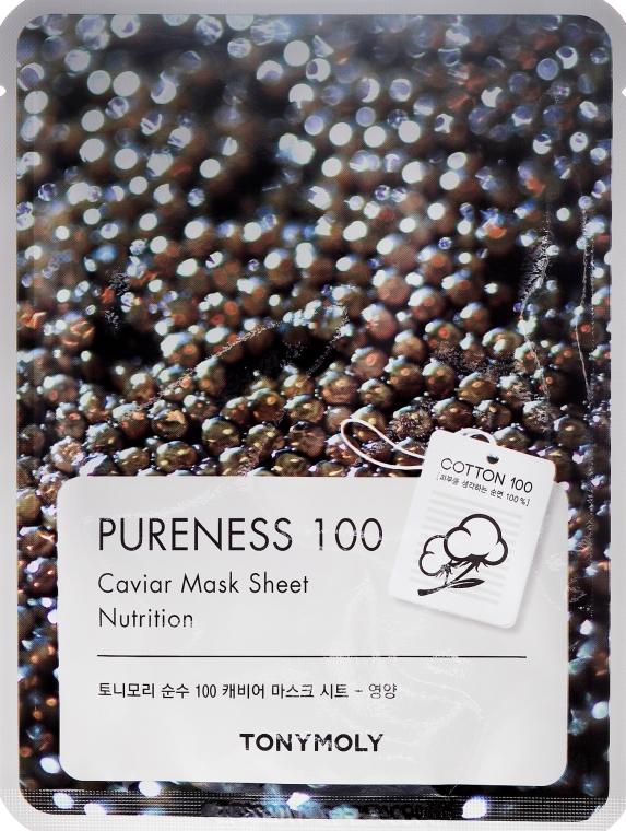 Maschera al caviale nero - Tony Moly Pureness 100 Caviar Mask Sheet