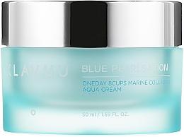Profumi e cosmetici Crema viso al collagene marino - Klavuu Blue Pearlsation One Day 8 Cups Marine Collagen Aqua Cream