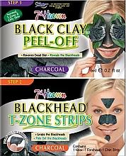 Profumi e cosmetici Maschera viso all'argilla nera - 7th Heaven Charcoal Duo Black Clay Peel Off
