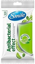 Profumi e cosmetici Salviette umidificate con vitamine, 15 pz - Smile Ukraine Antibacterial