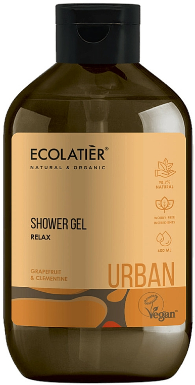 "Gel doccia ""Relax. Pompelmo e Clementine"" - Ecolatier Urban Shower Gel — foto N1"