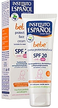Profumi e cosmetici Crema viso protettiva per bambini - Instituto Espanol Babe Protective Facial Cream SPF20