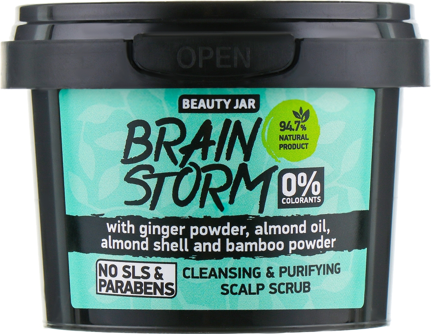 """Scrub detergente per il cuoio capelluto """"Brain Storm"""" - Beauty Jar Cleansing & Purifying Scalp Scrub — фото N2"""