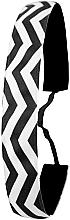 Profumi e cosmetici Fascia per capelli, bianco e nero - Ivybands Chevron Black White Hair Band