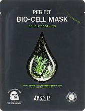 Profumi e cosmetici Maschera in biocellulosa con estratto di melaleuca - SNP Double Synergy Soothing Bio-Cell Mask