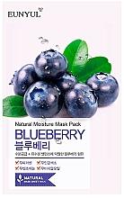 Profumi e cosmetici Maschera viso in tessuto all'estratto di mirtillo - Eunyul Natural Moisture Blueberry Mask
