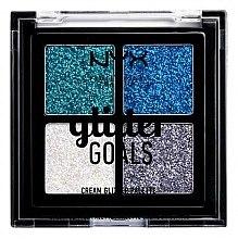 Profumi e cosmetici Palette glitter cremoso - NYX Professional Makeup Glitter Goals Cream Quad Palette