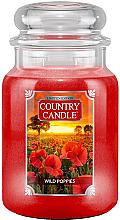 Profumi e cosmetici Candela profumata in vetro - Country Candle Wild Poppies