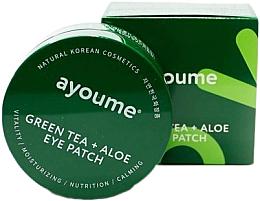 Profumi e cosmetici Patch occhi con tè verde ed estratto di aloe - Ayoume Green Tea + Aloe Eye Patch