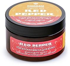 """Profumi e cosmetici Maschera per capelli egiziana """"Rafforzamento e crescita"""" - Hammam Organic Oils Red Pepper"""