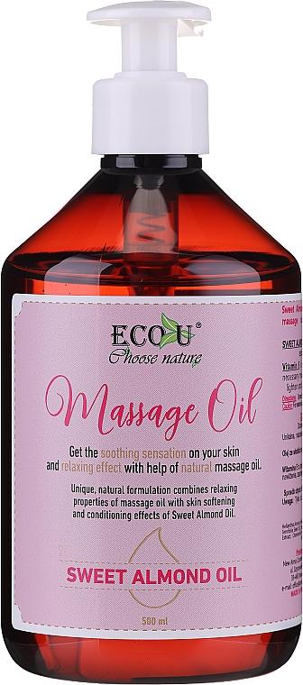 Olio per massaggi - Eco U Massage Oil Sweet Almond Oil