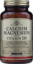 "Profumi e cosmetici Integratore alimentare ""Calcio, magnesio con vitamina D3"" - Solgar Calcium Magnesium with Vitamin D3"