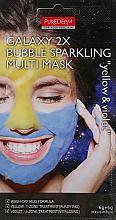 """Profumi e cosmetici Maschera multi-fango schiumogeno """"Giallo / Blu"""" - Purederm Galaxy 2X Bubble Sparkling Multi Mask"""